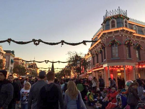 A typical packed Main Street during the holiday season, December 13.